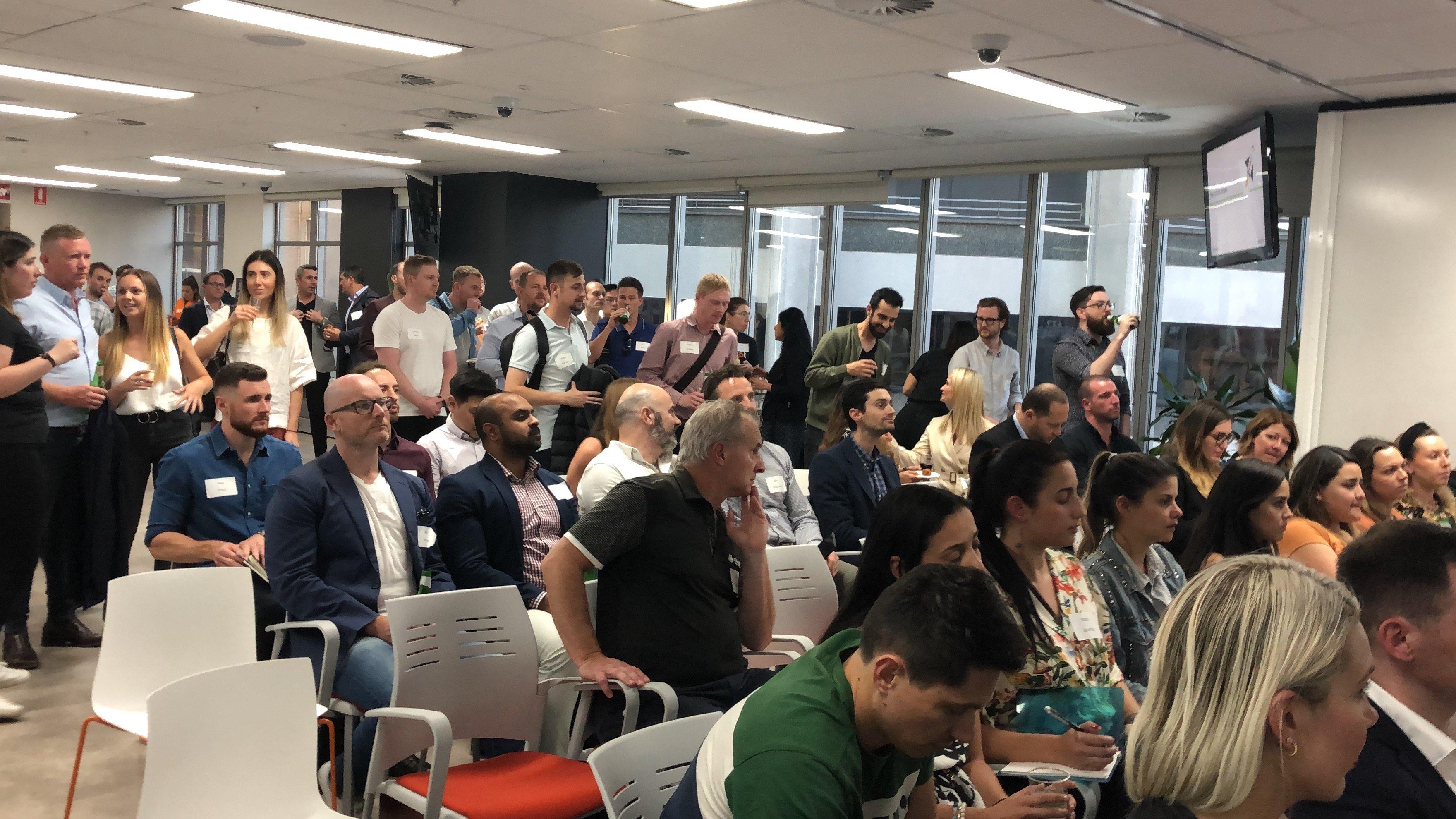 SalesTribe Meetup Hubspot Oct 2019 audience